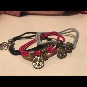 Lucky Brand 3 stretchy bracelets/hair ties